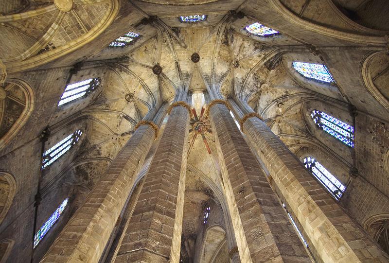 Santa Maria del Mar, Barcelona, Katalonien, Spanien